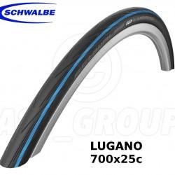 Schwalbe Lugano 700x25 Katlanır Dış Lastik Mavi Şerit